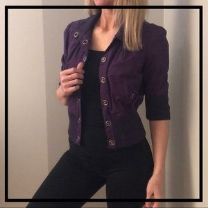 💥5 FOR $35💥 Stylish Purple Silver Button Jacket